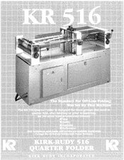 KR516 Quarter Folder brochure