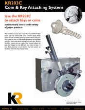 KR203C Coin and Key Attaching System brochure