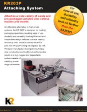 KR203P Pick and Place System brochure