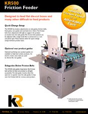 KR500 Friction Feeder brochure