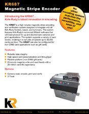 KR687 Magnetic Stripe Encoder brochure