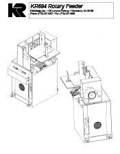 KR694 Rotary Feeder brochure