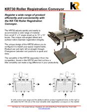 KR730 Roller Registration Conveyor brochure