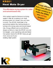 KR881 Heat Mate Inkjet IR Dryer brochure