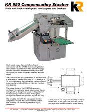 KR950 Compensating Stacker brochure