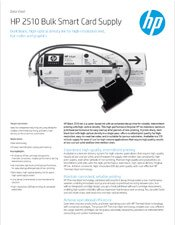 HP 2510 Bulk Smart Card Supply brochure
