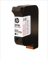HP Black 2580 Solvent B3F58B ink cartridge