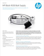 HP Black 4500 Bulk Supply brochure