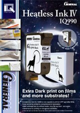 General IQ990 Solvent Black Print Cartridge brochure