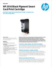 HP 2510 Black Pigment Smart Card Print Cartridge brochure