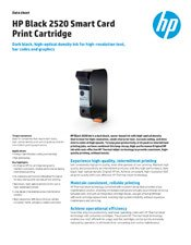HP 2520 Black Smart Card Print Cartridge brochure