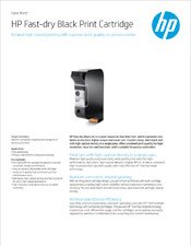 HP Fast-Dry Black Print Cartridge brochure