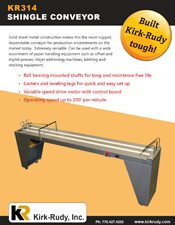 KR314 Shingle Conveyor brochure