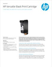 HP Versatile Black Print Cartridge brochure