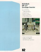 KR521 Envelope Inserting System brochure