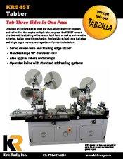 KR545T Mail Tabber brochure