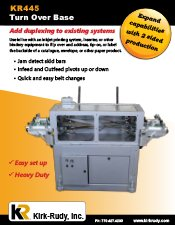 KR445 In-line Turnover Unit brochure