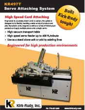 KR497 Servo Attaching System brochure