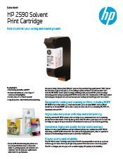 HP Black 2580 Solvent Print Cartridge brochure