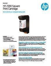 HP Black 2580 Solvent Print Cartridge brochure