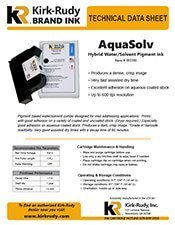 KR Brand AquaSolv Black Print Cartridge brochure