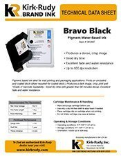 KR Brand Bravo Black Print Cartridge brochure