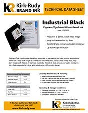 KR Brand Industrial Black Print Cartridge brochure