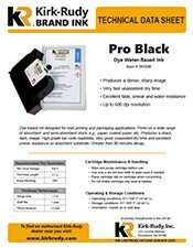 KR Brand Pro Black Print Cartridge brochure