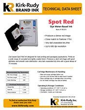 KR Brand Spot Red Print Cartridge brochure