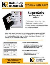 KR Brand SuperSolv Black Print Cartridge brochure